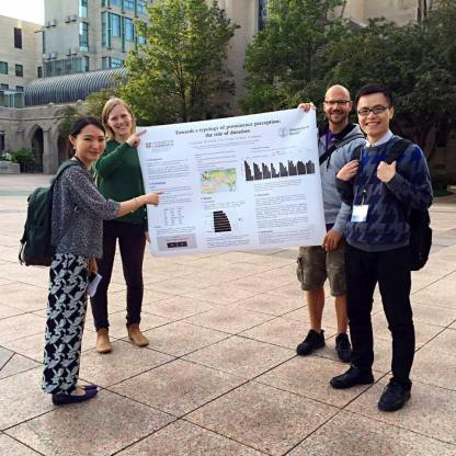 Poster presentation on the streets of Boston, summer 2016