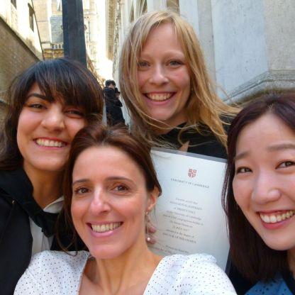 Graduation with Cambridge crew. July 2017.